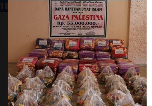 FPI Salurkan Bantuan pada Warga Gaza 3