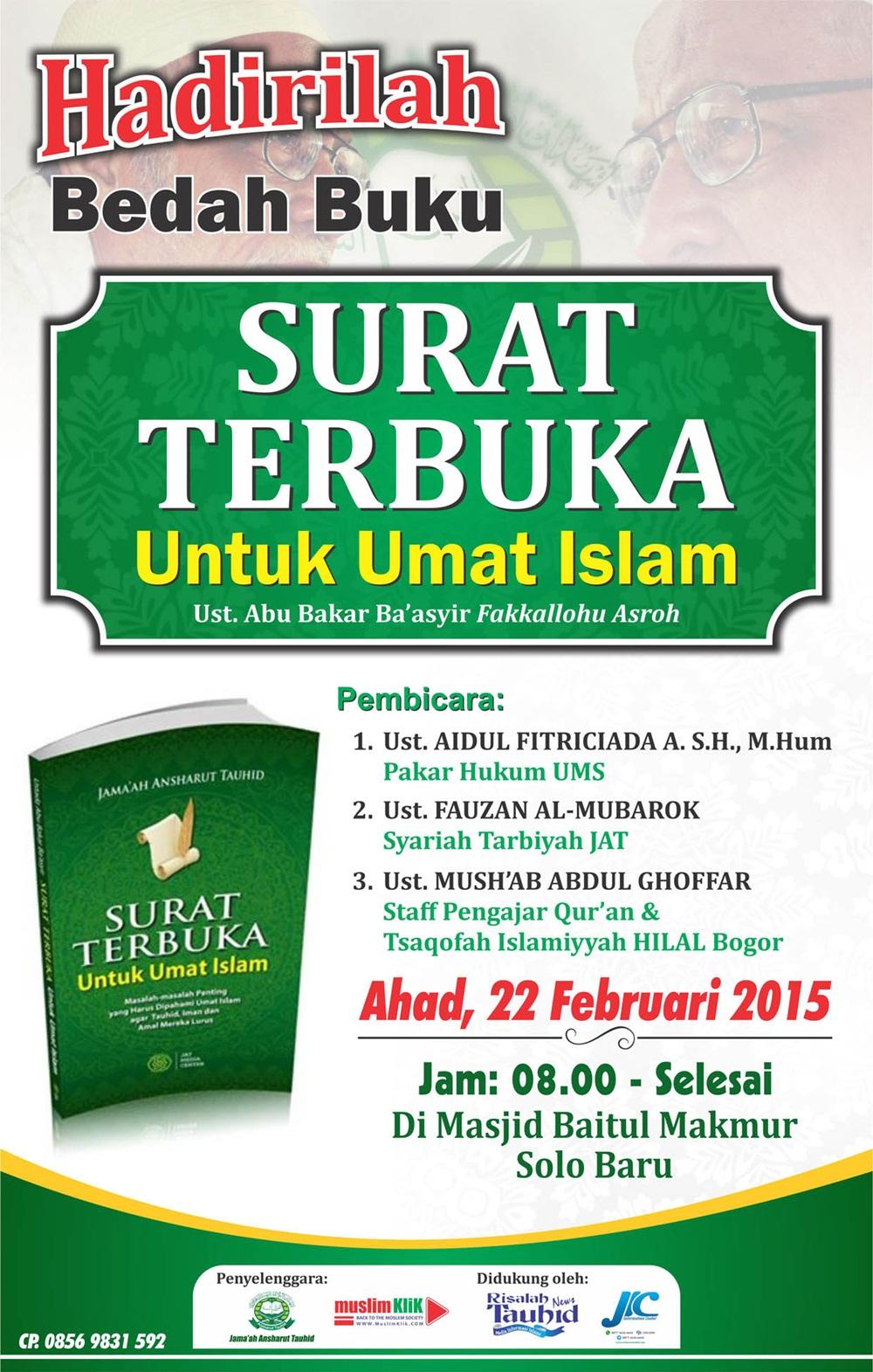 Pamflet Surat Terbuka Ust ABB Untuk Umat Islam