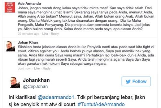 Ade Armando Liberal vs Johan Khan Muslim