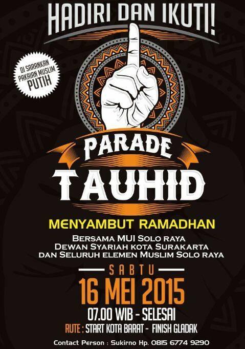 Parade Tauhid di Solo tgl 16 Mei 2015