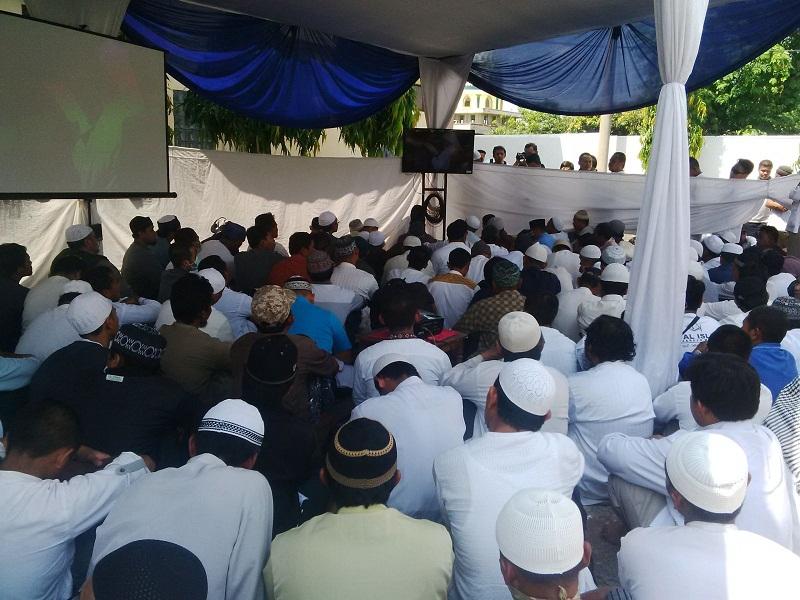 Aktivis Islam Dilarang Masuk, Sidang Ustadz Abu Bakar Ba'asyir Sempat Memanas