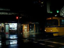 Wieczorny spacer, ulica Mula Mustafe Baseskije. Tramwaj typu Tatra K2.