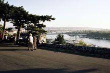 Widok na rzekę Sawę i Nowy Belgrad
