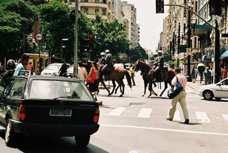 São Paulo- patrol policji na koniach
