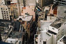 São Paulo-widok z wieżowca Banespa
