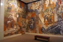 Dekoracje na ścinach sal wystawowych.