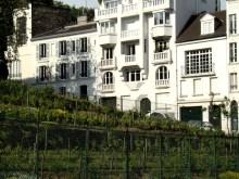 Róg Rue Saint-Vincent i Rue des Saules- winnica