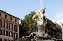 Piazza Barberini- fontanna Trytona