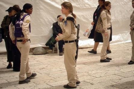 JEROZOLIMA- Pod Ścianą Płaczu- izraelskie żołnierki