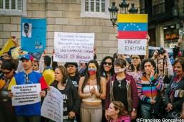 Venezuelans protest in Barcelona