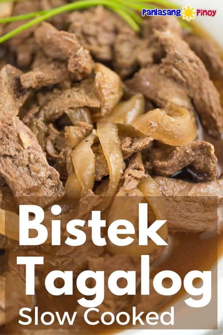 Slow Cooked Beefsteak (Bistek Tagalog) - Panlasang Pinoy