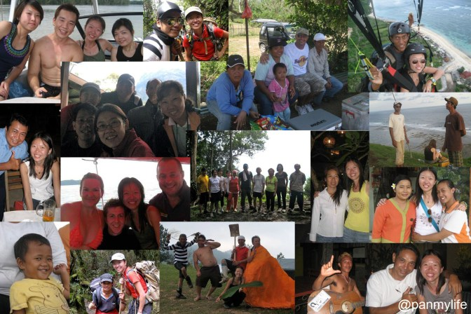 diving, paragliding, trekking, backpacking