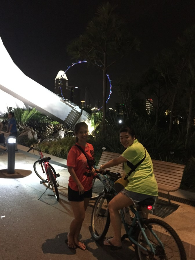 night cycling in Singapore