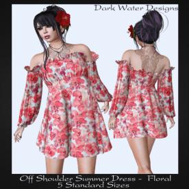 AD - Off Shoulder Dress floral