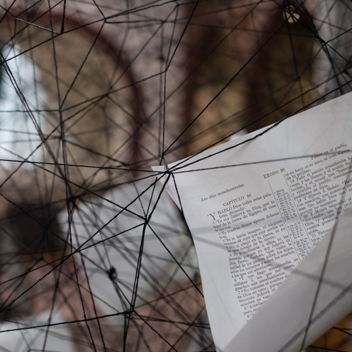 Lost Words, art installation at the Nikolaikirche