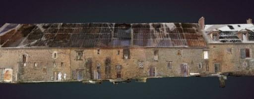 Acquisition photogrammétrique et scanner FARO 350 sur le site de l'abbaye de Preuilly, Seine-et-Marne