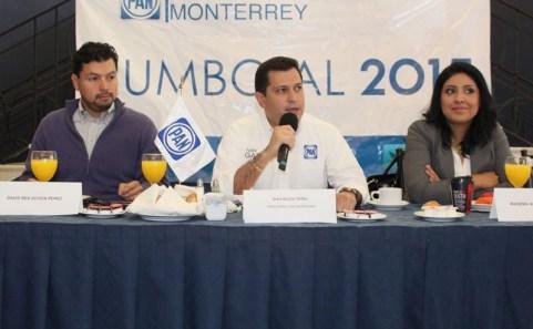Iván Garza arranca su campaña en la Colonia Vidriera