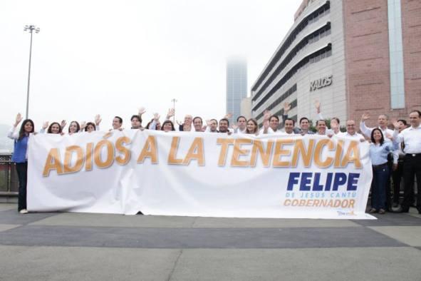 Candidatos a diputados locales y Felipe de Jesús Cantú dicen 'adiós' a la tenencia