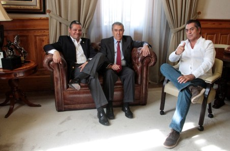 Jaime Rodríguez se reunió con Tonatiuh Mejía y Alejandro Garza