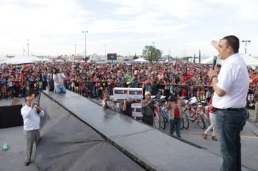 Acudieron miles de ciudadanos de Juáre