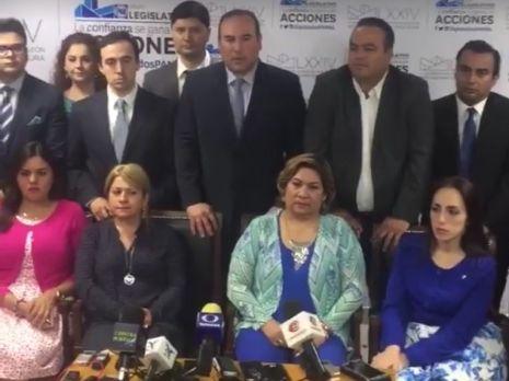 Diputados del PAN reclamaron a los priistas no revisar cuentas públicas