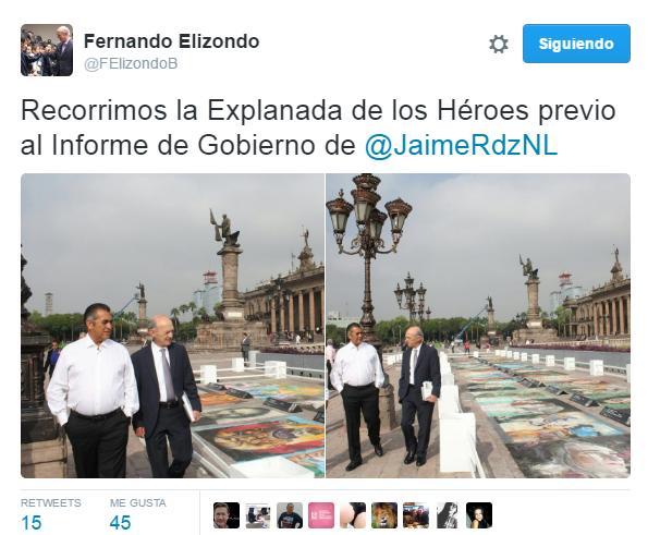 De rol antes del Primer Informe de Jaime Rodríguez