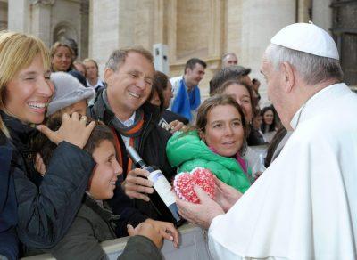 Diego Banfi junto al Papa Francisco