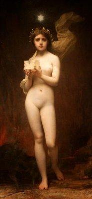 Jules Lefebvre (1836-1911), Pandora. O¦üleo sobre tela, 132 x 63 cm