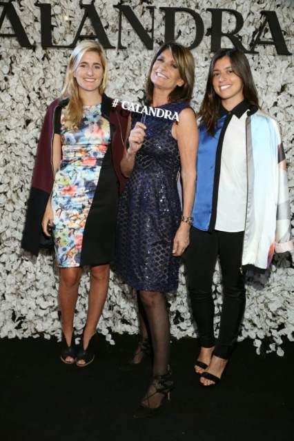 Teresa Calandra junto con las bloggers de mosa Lulu Biaus y Marou Rivero