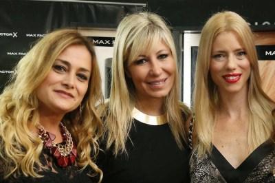 Victoria Gentile, María Grebol y Nicole Neumann