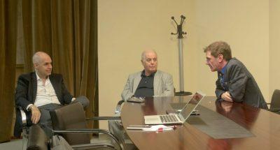 Encuentro entre Daniel Barenboim, Darío Lopérfido y Horacio Rodríguez Larreta