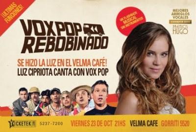 Luz Cipriota canta con Voxpop