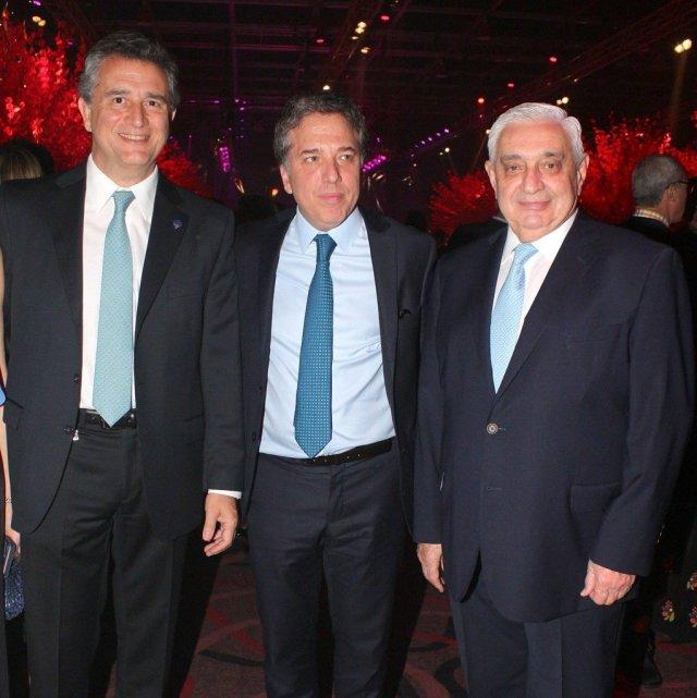 Luis Miguel Etchevehere, Nicolás Dujovne y Adelmo Gabbi en La Rural