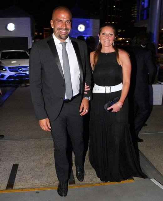 Juan Sebastián Verón y María Florencia Vinaccia en el Yacht Club Puerto Madero
