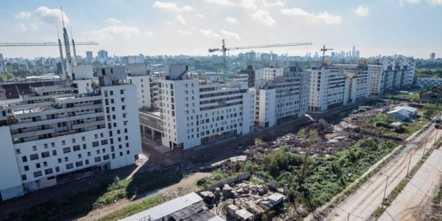 Avanza la construcción de viviendas de ProCreAr en Parque Patricios para 2500 familias