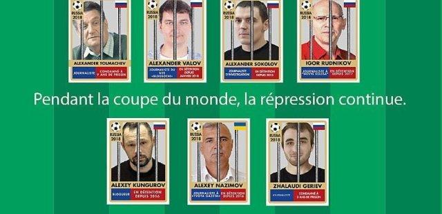 """""""Durante la Copa del Mundo, la represión continúa"""" Campaña de RSF en #Rusia2018"""