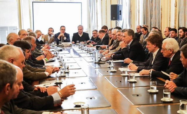 Macri recibió a los representantes de la Mesa de las Carnes