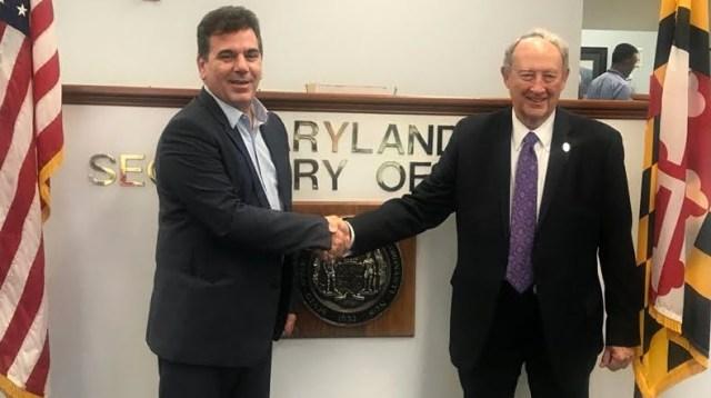 Ritondo fue recibido en Estados Unidos por el Secretario de Estado de Maryland