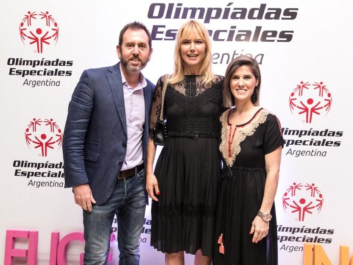 Diego Pando, Mercedes Fielder y Valeria Mazza