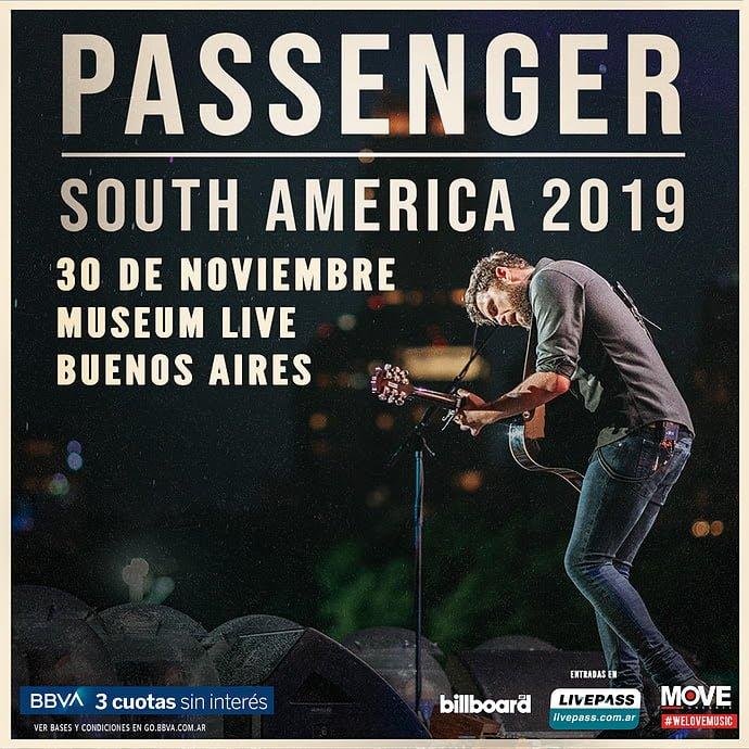 Passenger regresa a la Argentina el 30 de noviembre en Museum