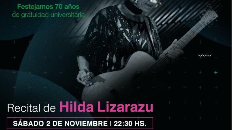 Hilda Lizarazu cierra La Noche de los Museos en las escalinatas de la Facultad de Derecho