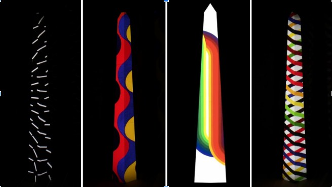 Julio Le Parc ilumina el Obelisco