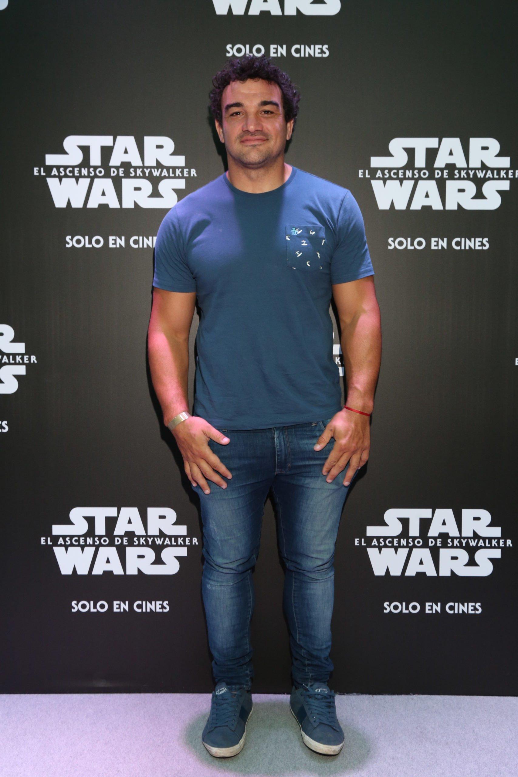 Agustin Creevy en  la avant premiere de Star Wars