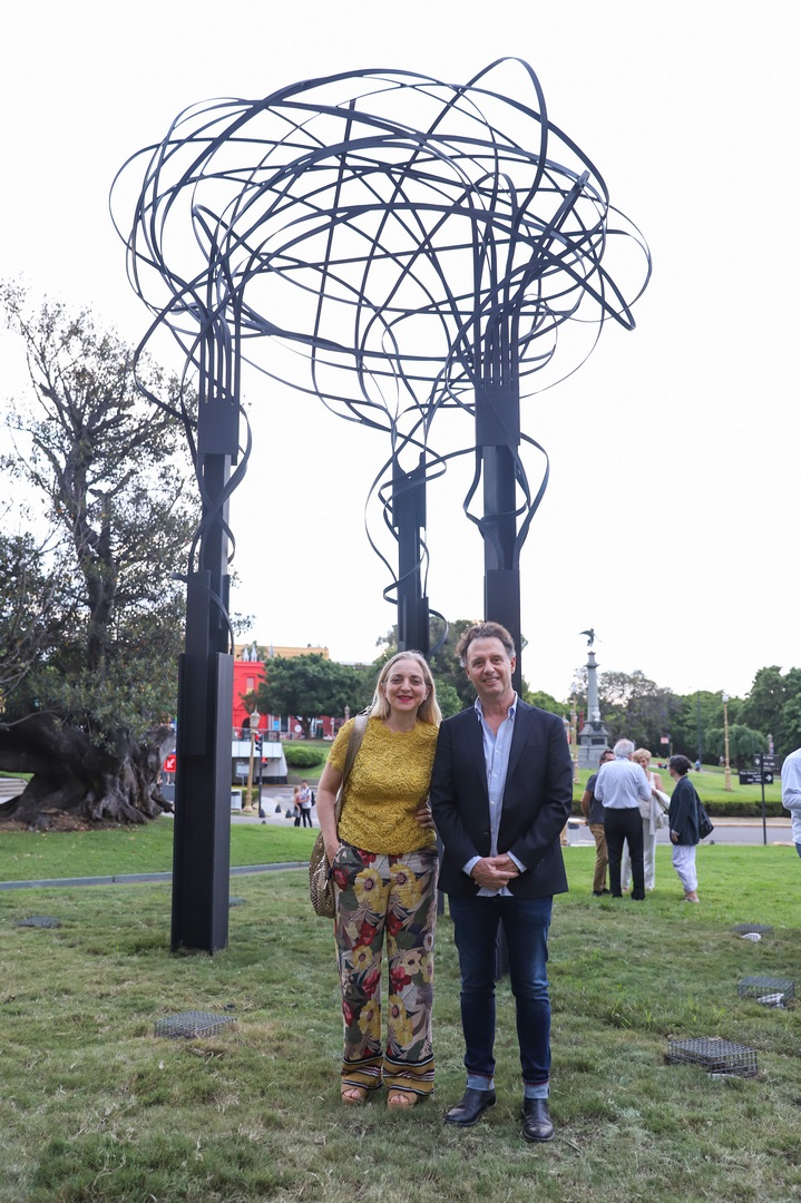 Nicola Constantino y Pablo Reinoso en la presentación Aires de Buenos Aires