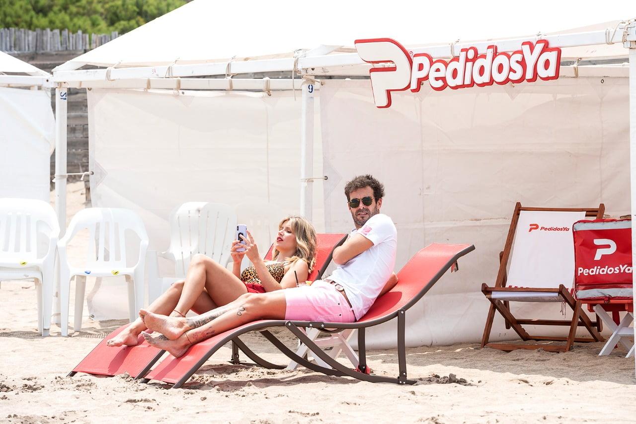 Laurita Fernández y Nico Cabré tuvieron su primer y merecido día de playa