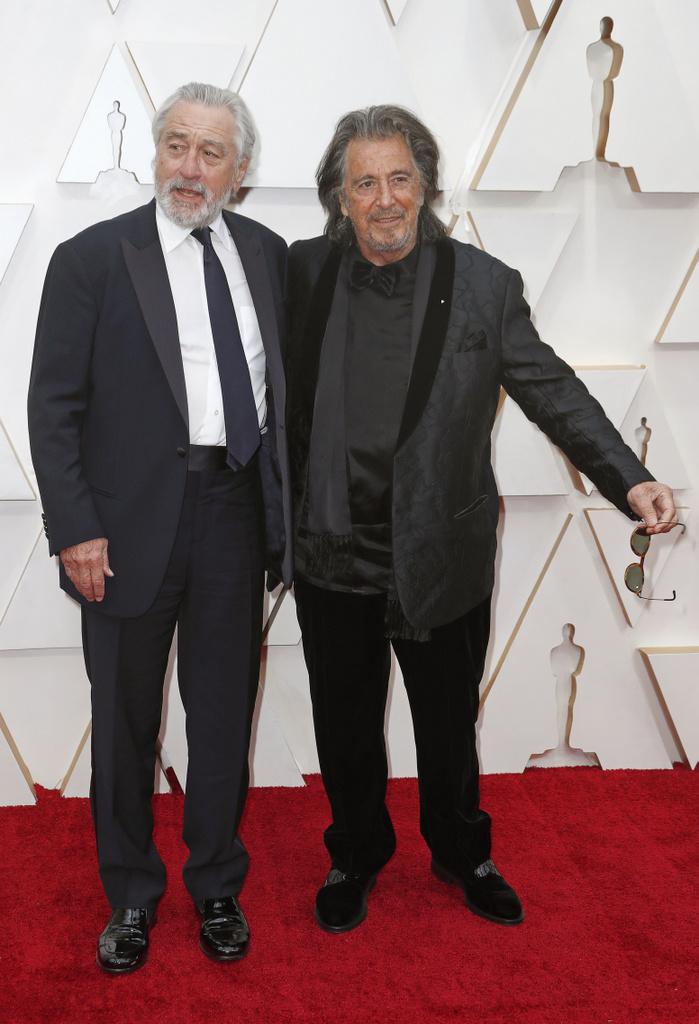 Robert De Niro y Al Pacino en la entrega de los Premios #Oscars