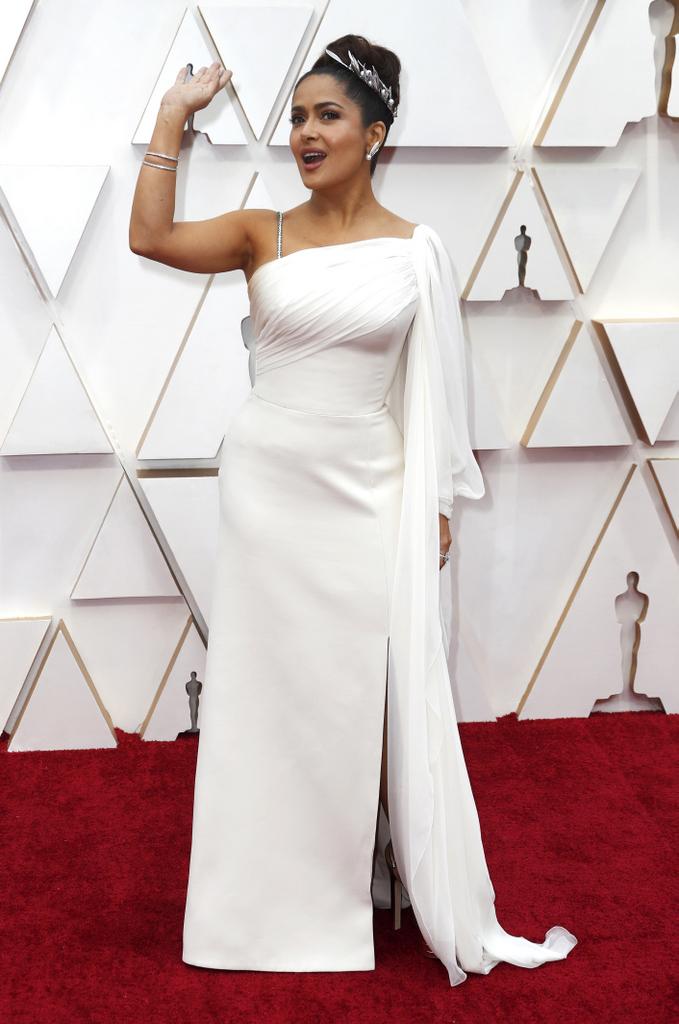 Salma Hayek en la entrega de los Premios #Oscars