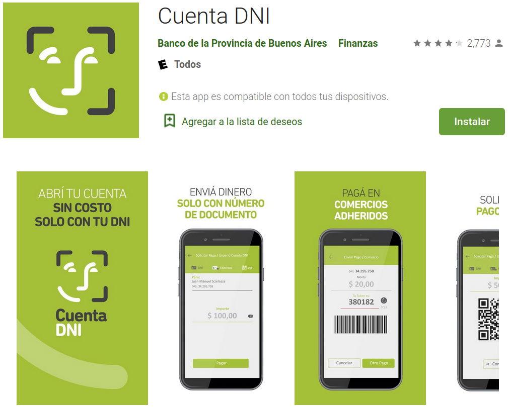Cuenta DNI, la app del Banco Provincia