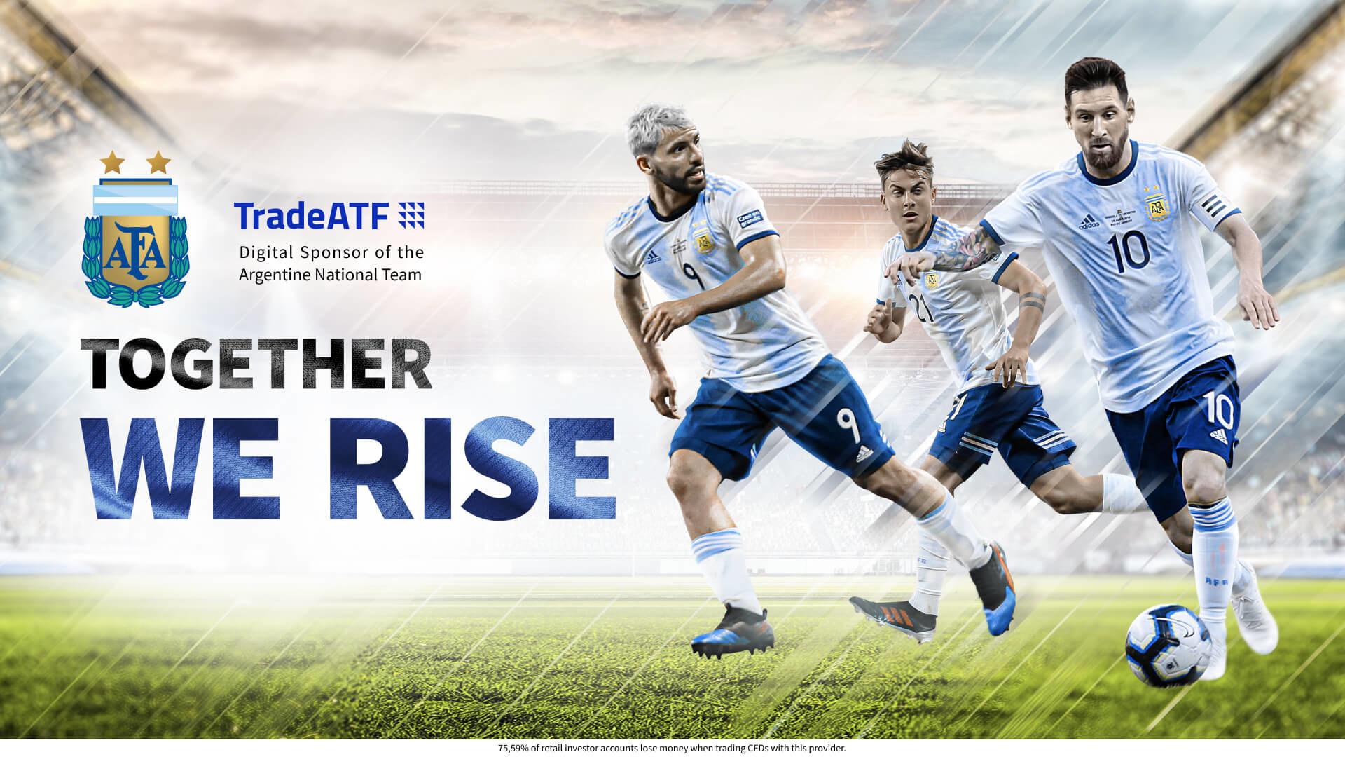 La selección Argentina se une a TradeATF para un patrocinio digital