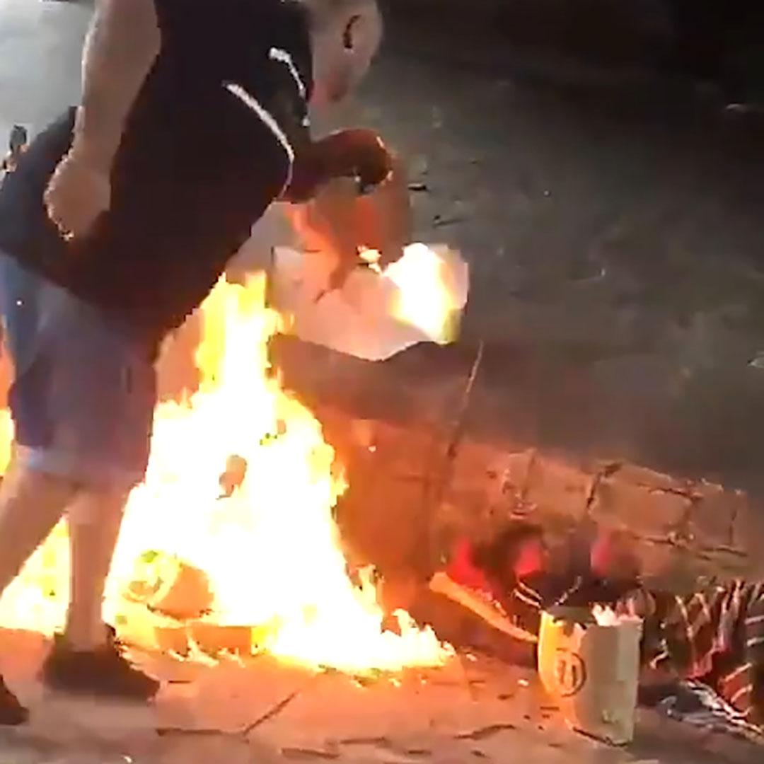 Prenden fuego a otro hombre en situación de calle en Mar del Plata